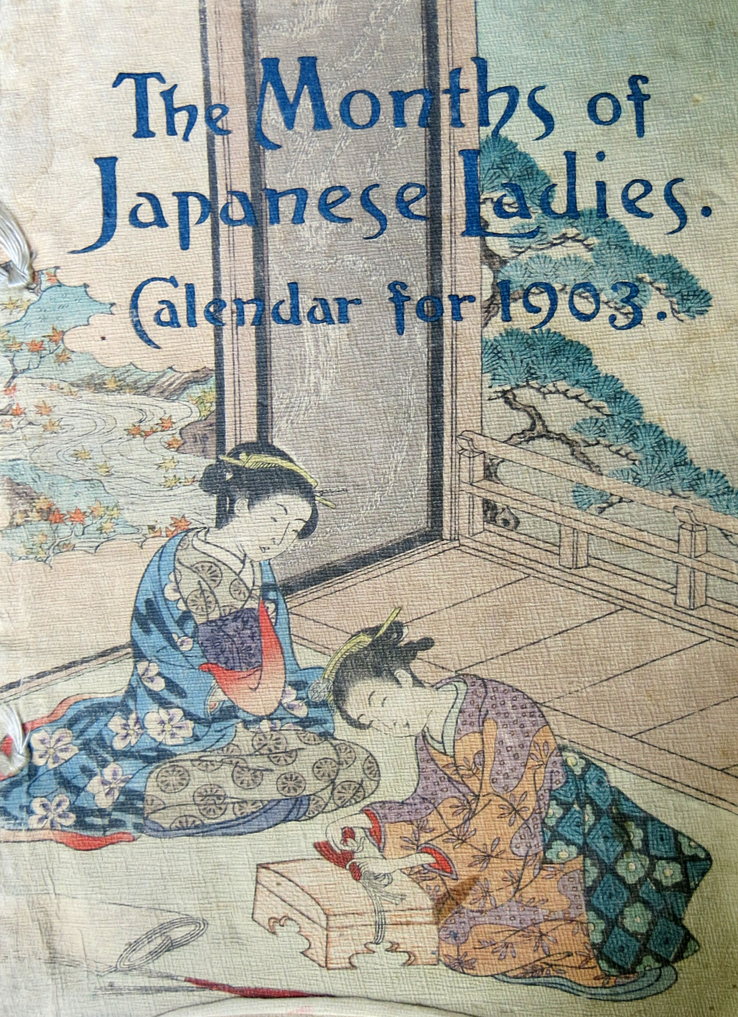 The Months of Japanese Ladies, Calendar for 1903
