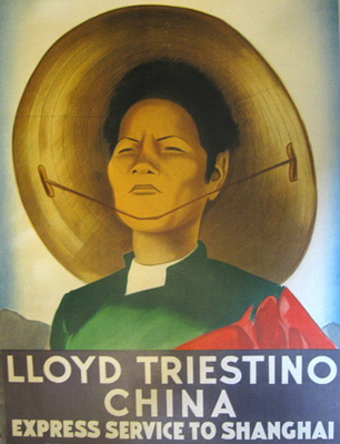 Llyod Triestino China. Affiche de Dudovitch. Dudovitch's Poster