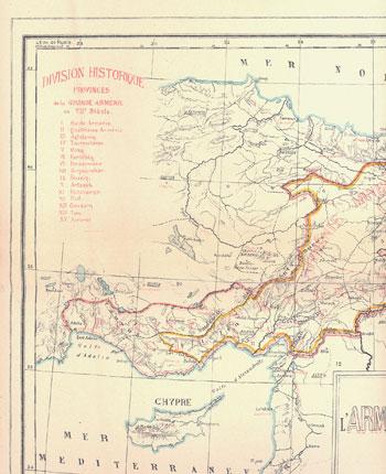 Carte de l'Arménie ancienne