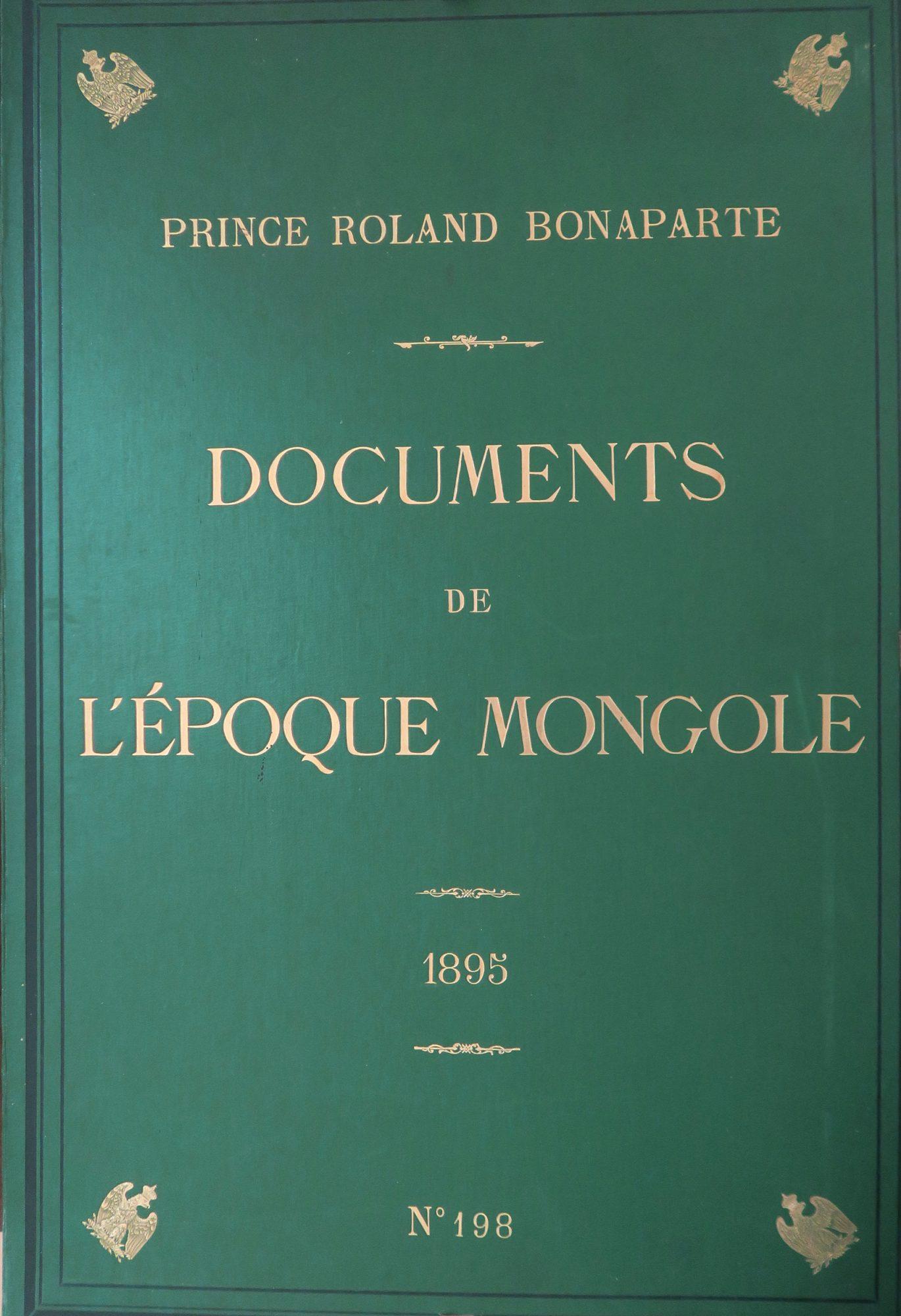 Documents de l'époque mongole des XIIIe et XIVe siècles
