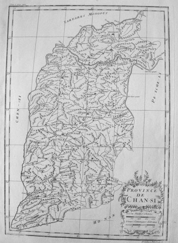 Carte de la province de Chan-s 山西i [Shanxi]