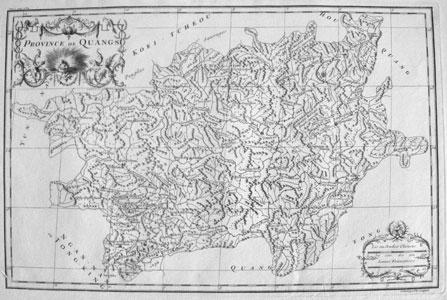 Carte de la province de Quang-si 广西 [Guangxi]