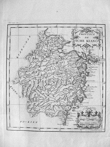 Carte de la province de Tche kiang 浙江 [Zhejiang]