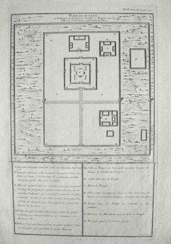 Plan du Ti-tang, ou du temple, où l'empereur sacrifie à Chang-ti sous le titre de Souverain Seigneur de la Terre