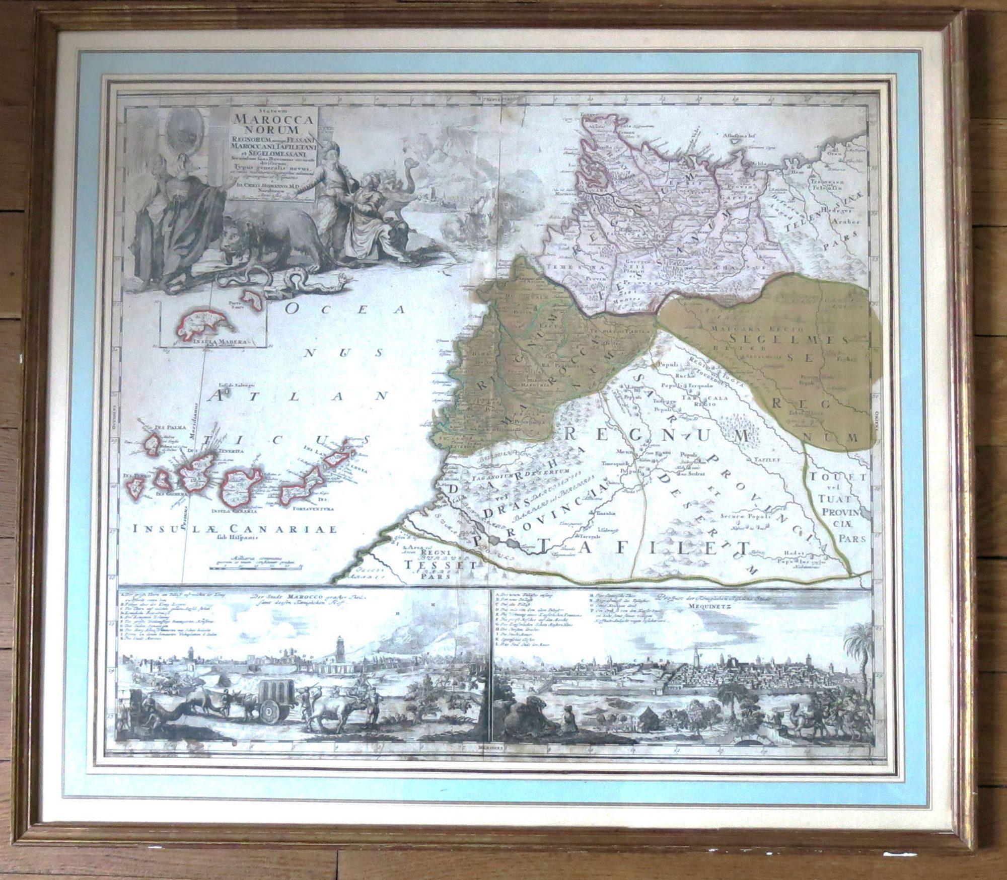 Statuum Maroccanorum, Regnorum nempe Fessani, Maroccani, Tafiletani et Segelomessani Secundum suas Provincias accurate divisorum