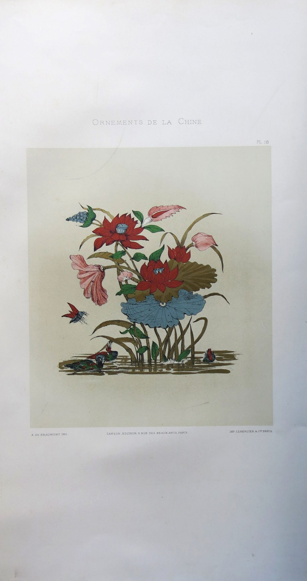 Ornements de la Chine. Recueil de dessins pour l'art et l'industrie (Encyclopédie des arts de l'Orient. Série 5)