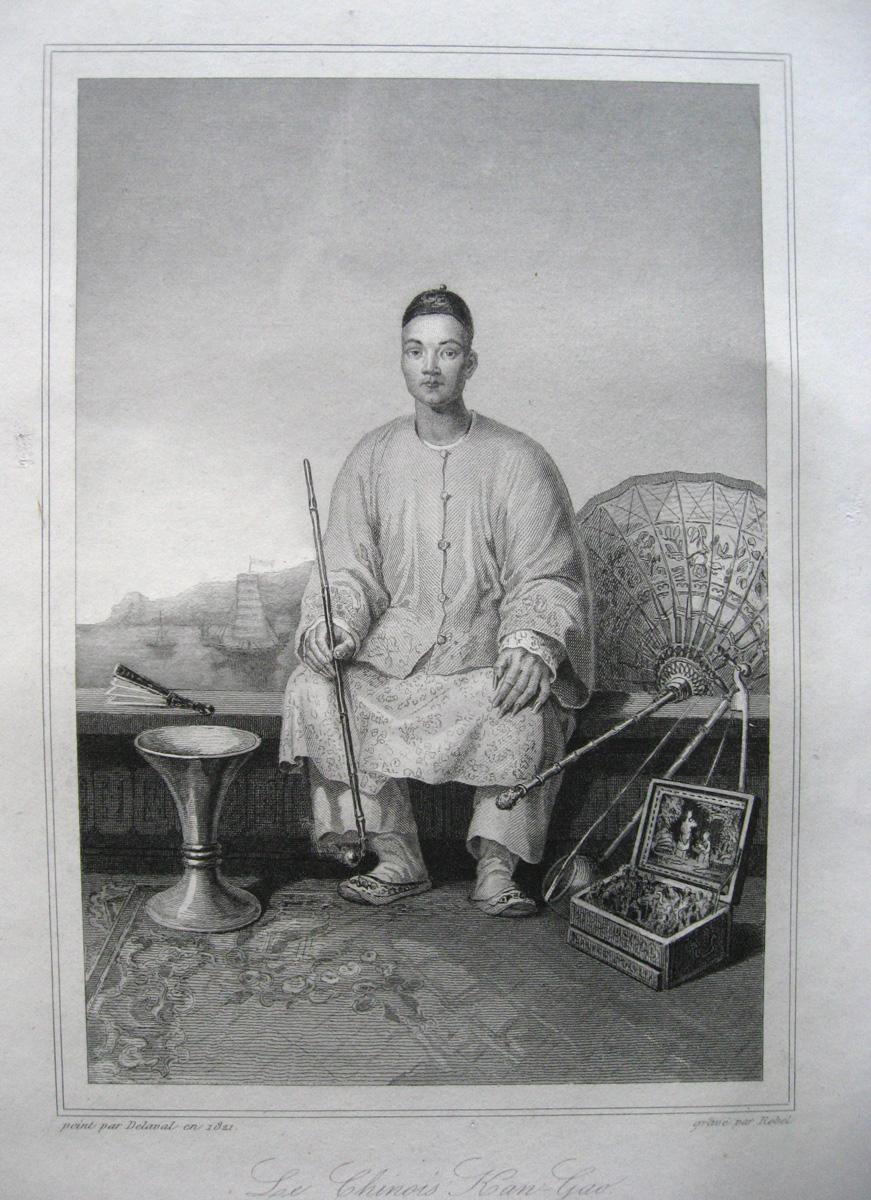 Le Chinois Kan-Gao peint par Delaval en 1821 [et] gravé par Rebel