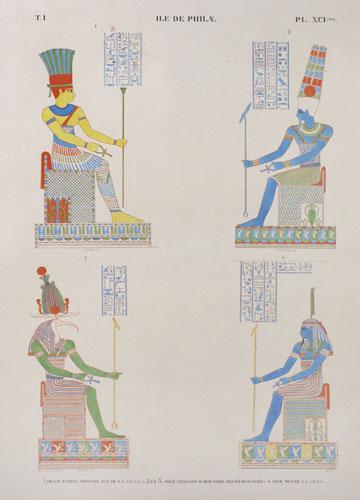 Monuments de l'Egypte et de la Nubie, d'après les dessins exécutés sur les lieux sous la direction de Champollion-le-Jeune et les descriptions autographes qu'il a laissées : Tome I, Planche XCI (ter)
