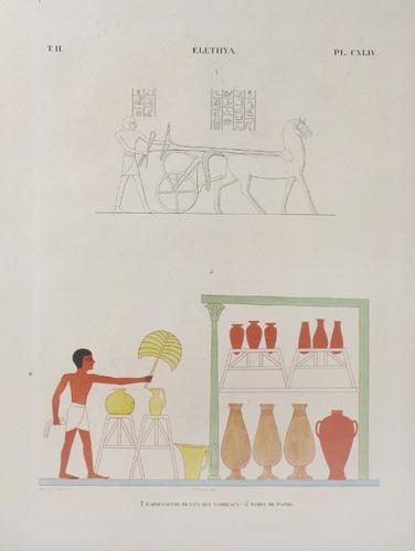 Monuments de l'Egypte et de la Nubie, d'après les dessins exécutés sur les lieux sous la direction de Champollion-le-Jeune et les descriptions autographes qu'il a laissées : Tome II, Planche CXLIV