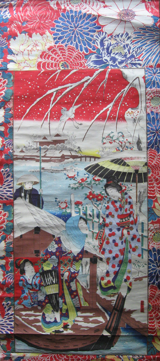 Estampe montée en kakemono éditée à Tôkyô par Wakura (début XXe s.). Très fraîchement conservée, couleurs vives, ce qui est rare. Very good condition. Fresh colours