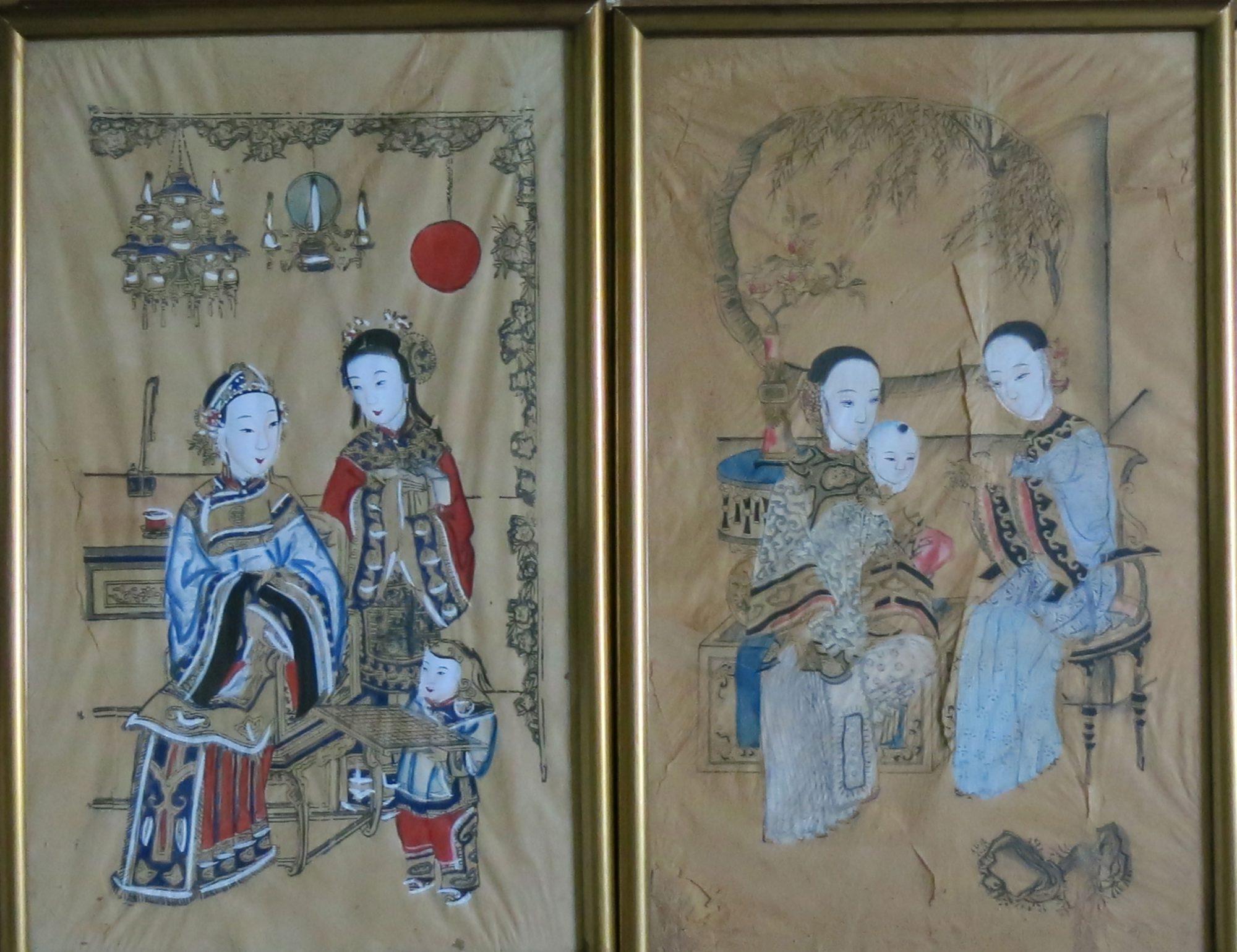 Nianhua 年画. 套色版印笔绘.
