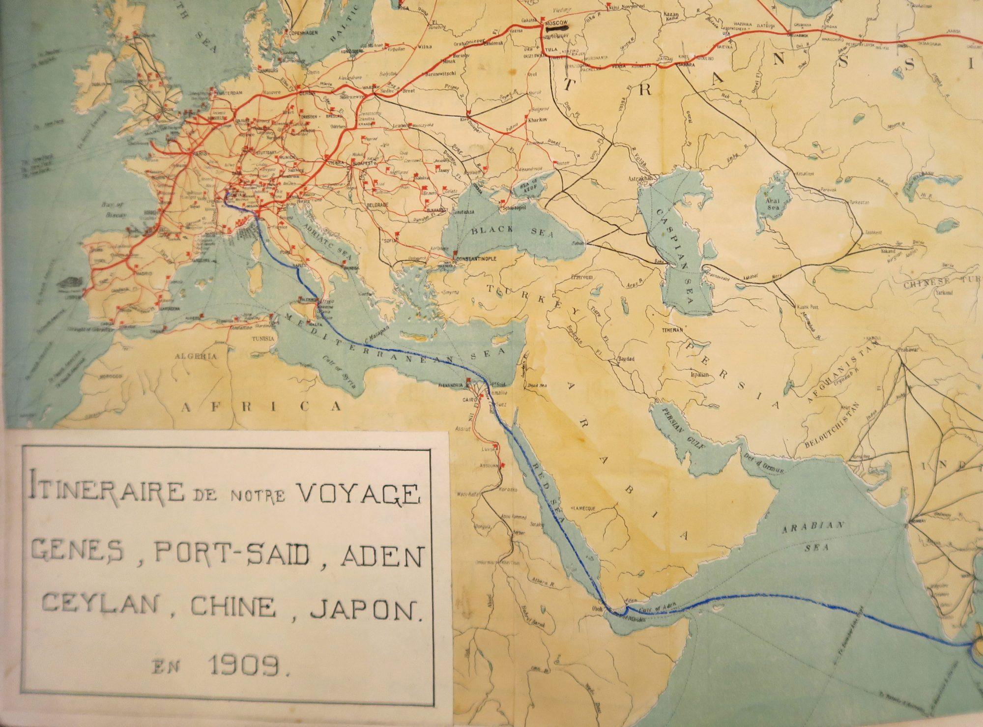 Notes de notre voyage à Ceylan, en Chine et au Japon du 15 janvier au 18 mai 1909.